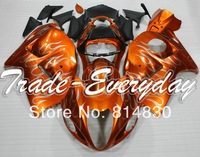 Free gift with all the bolts and screws with tank cover fits for GSXR 1300  Hayabusa 96 07 1996 2007 Red ORanGE 10T26  fairing
