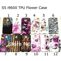 12colors, S5 i9600 TPU Flower Case, For Samsung Galaxy S5 i9600 Vintage TPU Gel Case Cover