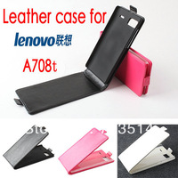 New brand charms Luxury Flip pouch holster leather magnetic business protect case cover wallet For Lenovo A708T free shipping