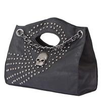 2012New Style Korean Style Rivet Skull Deroration Shoulder Bags Fashion PU Geometric Handbags BW4105