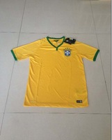 Free shipping 2014 world cup Soccer jersey Brazil top quality DAVID LUIS brazil Football 2014 Player version Jersey men women