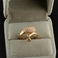 Styles Of Gold Plated Elegant Rhinestone/ Clear Crystal Lover Ring For Jewelery Gift 63052