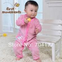 0-1 year old male velvet bodysuit sleepwear plus velvet thickening thermal baby sleepwear baby clothes