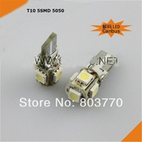 T10 5SMD 5050 Canbus decoding detection lamp alarm auto LED width lamp w5W 10pcs