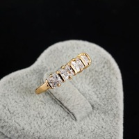 Styles Of Gold Plated Elegant Rhinestone/ Clear Crystal Lover Ring For Jewelery Gift 63102