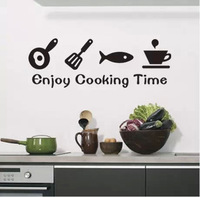 Wall stickers kitchen cabinet waterproof aesthetic refrigerator wall stickers time