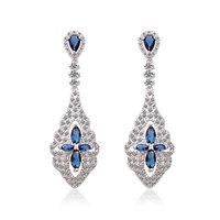 Glittering 4 Color Choice Bridal Drop Earrings
