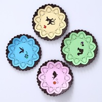 New creative lace style pvc cup coaster mat