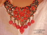 National accessories tibetan jewelry bohemia cutout carved pendant decoration necklace g-189