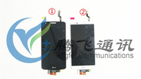 Free shipping Optimus G2 D802 D805 touch digitizer and LCD display for LG 100%Original black and white color
