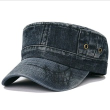 2014 Fashion washing old-fashioned denim breathable outdoor army cap leisure baseball cap 4color 1pcs free shipping(China (Mainland))