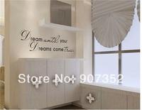 Romantic English Sentence PVC Wall Decal Sticker (Black),free shipping