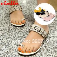 VINLLE 2014 fashion summer new super flash  pinch Women flat sandals Roman shoes size 34-43