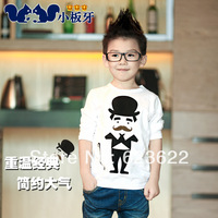 Small die 2014 spring children's clothing cartoon child baby male child long-sleeve T-shirt 5944 basic shirt