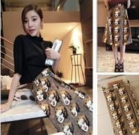 new 2014 spring vintage marilyn monroe print Skirts crop top and skirt bust skirt Straight long maxi skirt S08