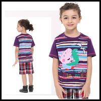 Nova Children Peppa Pig Cotton T shirts New 2014 Spring Baby Boy  Fashion short Sleeve Casual Tshirt  For Boys C4388