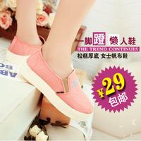 Canvas shoes 2014 women's platform cotton-made platform shoes women's low canvas shoes