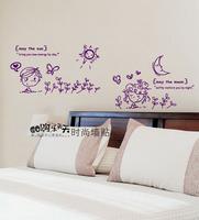 Tv sweet bedside kitchen cabinet wall stickers wall stickers sun moon