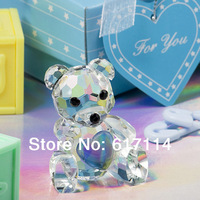 2014 hot sale! fashion blue crystal bear for Wedding Gifts for men souvenirs free shipping