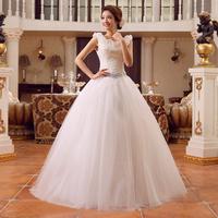 Drop Shipping 2014 Fashion Bride Spaghetti Strap Princess Tube-Top Slim Wedding Dress Lace Up Bandage Wedding Ball Dresses Gowns