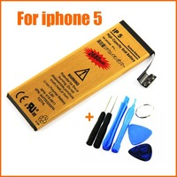 Free Shipping For iphone 5G battery 3.7V 2680mAh High Capacity 5G Gold battery Free Tools