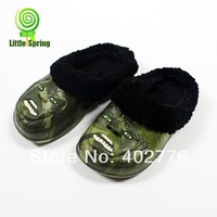 Retail children slides  kids shoes fashion monster face sandals summer winter commonly used boys shoes TLZ-X0046