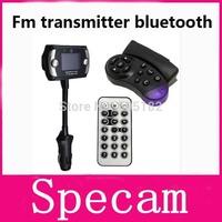 1.5 Inch LCD Screen FM Transmitter Modulator Bluetooth Car Kits+MP3/MP4 Player+Support SD/MMC+Steering Wheel Mount