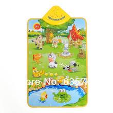 Music Sound Farm Animal Kids Baby Children Play Mat Carpet Playmat Gym Toy Free Shipping(China (Mainland))