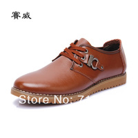 2014 new, men, natural leather, flat, oxford shoes, business casual shoes, men leather shoes, free shipping