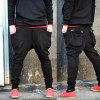 2014 new brand men leisure drop crotch harem hip hop pants mens dance bandana baggy sport sweatpants black jogger pants trousers