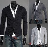 Free Shipping Bran-New Men's Stylish Desige Casual Slim Fit Leisure Suit  Blazer Coat Jackets