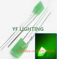 100PCS Free shipping 5x5x7MM Triangle indicator GREEN LED DIODE 2.0-2.5V(Diamond dip led)