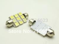 Free shipping 2pcs/lot Car Auto Interior 9 LED 41mm White 5050 SMD  Festoon Dome Light LED Licence Plate Roof Car 12V  Light