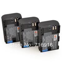 3PCS 2600 mAh LP-E6 Battery For Canon 5D Mark II III 7D 60D Show battery level