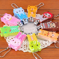 Free Shipping 50pcs/lot Cartoon cute animal Nail Clipper nail scissors household necessities