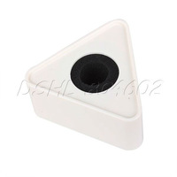 "Portable Mic Microphone Interview Triangular Logo Flag Station White 1.54"" Hole"