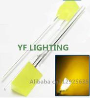 2-PIN Triangle through hole led 5*5*7mm yellow diffused indicator dip led 2.0-2.2V(100pcs free shipping)