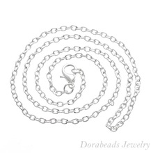 """hot-  12 Silver Plated Lobster Clasp Cable Link Chain Necklaces 18"""" B12716 (B12716)(China (Mainland))"""