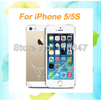 For iPhone 5 5S Full Body Front Back Ultra Clear LCD Screen Protector Protective Film With Retail Package Free Shipping