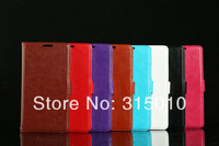 High quality Sheep grain PU leather flip case with credit slots for Sumsung Galaxy S5 i9600 phone cases (H302)