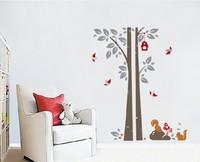 Free shipping!! JM7123 animals wall tree sticker house wall decor60*90cm