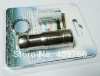 100pcs/lot Trustfire Mini 01 CREE XM-L T6 3-mode 300 Lumens LED Stainless Steel Keychain Flashlight Torch+CR123A Battery