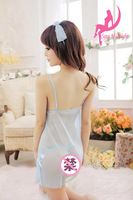 Best Selling Light Blue Sexy Women's Lingerie Sleepwear Underwear Ladies Girls Babydoll Teddy Intimates Chemise Skirt