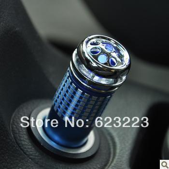 Free Shipping Anion Car Air Purifier,Car Oxygen Bar Blue Light Oxygen Bar~(China (Mainland))
