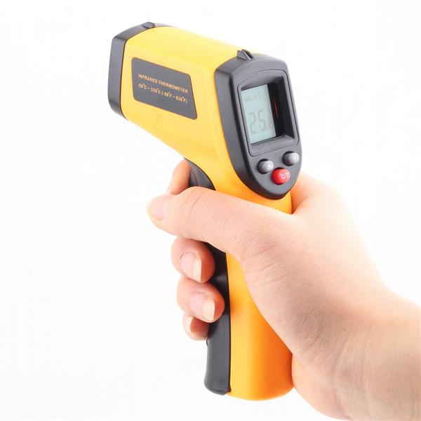 1 Pcs Digital Temperature Thermometer Gun Non-Contact LCD IR Laser Infrared Free Shipping Wholesale(China (Mainland))
