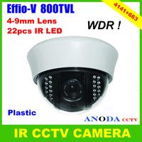 Surveillance Home Security CCTV Dome Camera Sony Effio-V 800TVL OSD Menu 4-9mm Varifocal Lens Indoor Using