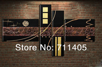 3 Size Free Shipping 100% Hand painted abstract 4pcs group oil painting High Quality Wall Art on Canvas wholesale/ A-213