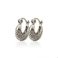 6PCS Wholesale Earring Aliexpress Fashion Platinum Plated Hoop Earrings For Women Earings Fashion 2014 Free Shipping(EW-40)