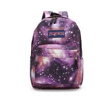 wholesale  5PCS/lot Fashion Superbreak  galaxy printing backpack students  bag children school bags Women backpack travel  bag