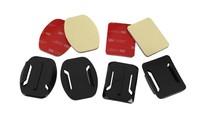 2 pcs Flat & 2pcs gopro Curved Mount with 3M Adhesive Pads for GoPro Hero 4/3 / 2 / 1 SJ4000 Camera